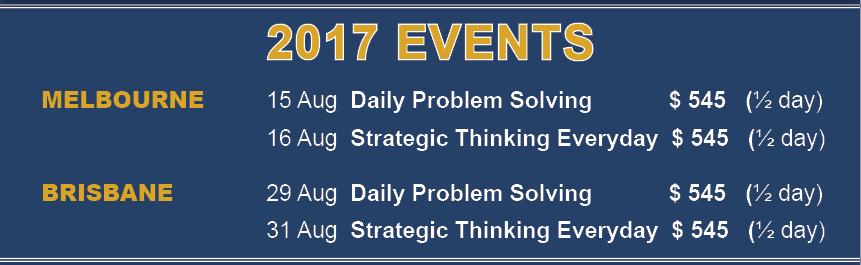 Haines Centre Australia Strategic Thinking events_2017
